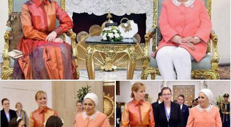 انتصار السيسى: سعدت باستقبال زوجة رئيس المجر فى زيارتها الأولى لمصر