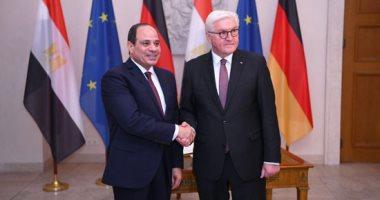 السيسى يشيد بعلاقات الصداقة بين القاهرة وبرلين خلال لقائه بالرئيس الألمانى