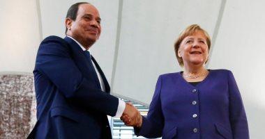 بدء المباحثات الثنائية بين الرئيس السيسى وإنجيلا ميركل فى برلين