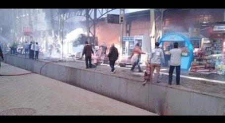 حريق بجوار محطة الرمل يوقف قطارات أبو قير