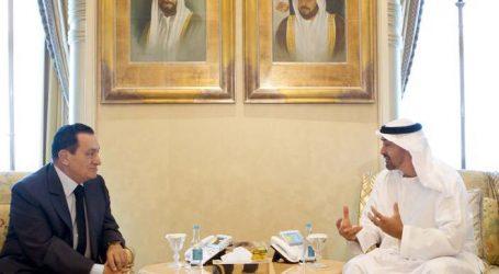 علاء مبارك يقدم العزاء في الشيخ سلطان بن زايد شقيق رئيس الإمارات