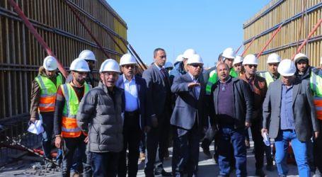 """وزير النقل يتفقد أعمال مشروع القطار الكهربائي """"السلام – العاصمة الإدارية"""""""