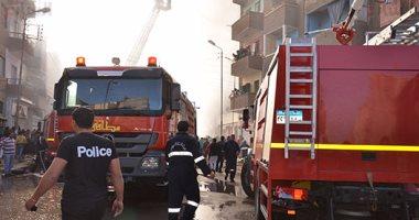 السيطرة على حريق التهم أتوبيس و5 سيارات داخل جراج فى المعادى