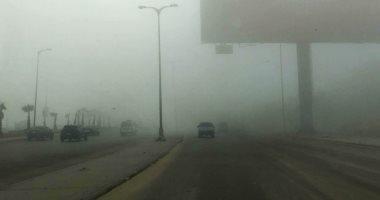 المرور يعيد فتح طريق الكريمات من بنى سويف إلى المنيا بعد زوال الشبورة
