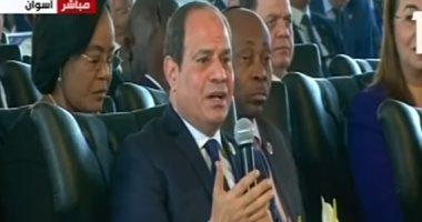 الرئيس السيسى: المرأة المصرية تصدت بقوة فى 2013 للحفاظ على الهوية