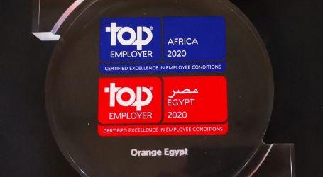 """""""اورنچ مصر"""" تحصد شهادة أفضل جهة عمل فى مصر وأفريقيا للعام السادس من مؤسسة Top Employer العالمية"""