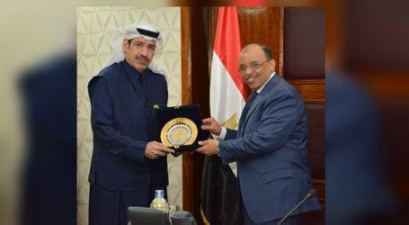 وزير التنمية المحلية يستقبل رئيس مجلس الأعمال المصري السعودي