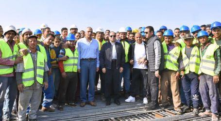 الرئيس يتفقد الاعمال الإنشائية لتطوير طرق ومحاور مصر الجديدة وطريق القاهرة السويس(صور/فيديو)