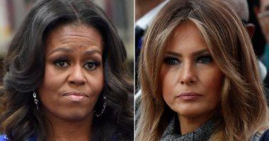 ميشيل أوباما تتفوق على ميلانيا ترامب وتفوز بجائزة المرأة الأولى للأمريكيين
