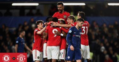 مانشستر يونايتد يهزم تشيلسي بثنائية على ملعبه بقمة الدوري الإنجليزي.. فيديو