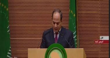 الرئيس السيسى يدعو لقمة بالقاهرة لبحث إنشاء قوة أفريقية لمكافحة الإرهاب