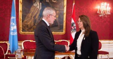 رئيس جمهورية النمسا يستقبل غادة والى لبدء مهام عملها بالأمم المتحدة