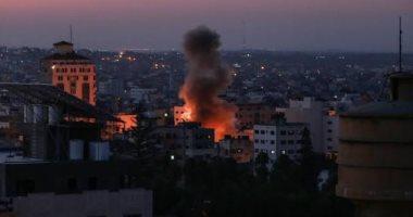 الاحتلال الإسرائيلى يشن غارات على مواقع فى قطاع غزة