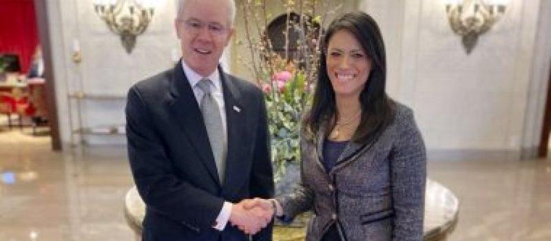 وزيرة التعاون تبحث مع الوكالة الأمريكية للتنمية الدولية برامج التعاون