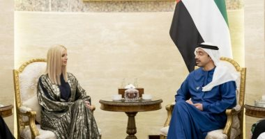 وزير الخارجية الإماراتى يستقبل إيفانكا ترامب فى أبوظبى