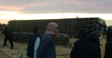 السكة الحديد: لا وفيات فى حادث خروج قطار سيدى عبد الرحمن عن القضبان