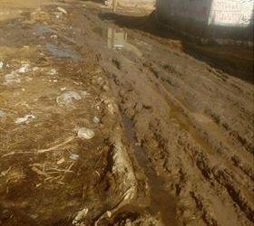 شكوى أهالى عزبة الزرقة بالبحيرة .. مياه المجارى تغطى الشوارع