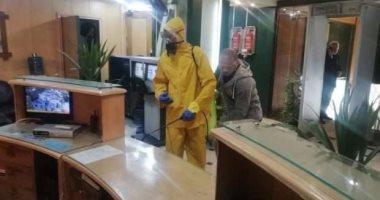 تعقيم مبنى ماسبيرو لمواجهة فيروس كورونا.. صور