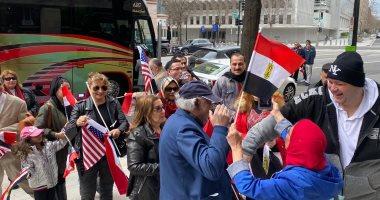 صور.. بدء وقفة الجالية المصرية بأمريكا أمام البيت الأبيض للتضامن مع حقوق مصر المائية