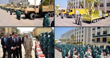 أول فيديو لنزول القوات المسلحة لتعقيم الجامعات والمدارس من فيروس كورونا