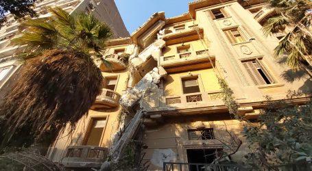 انهيار عقار بمصر الجديدة والمرور يغلق شارع بيروت حفاظا على الأرواح