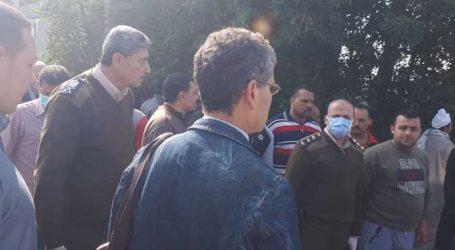 الأمن يطلق الغاز المسيل للدموع لتفريق الجمهور لدفن جثة طبيبة توفيت بكورونا في الدقهلية