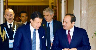 السيسى يعزى رئيس وزراء إيطاليا فى ضحايا فيروس كورونا