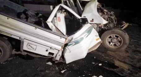 28 مصاباً فى حادث تصادم سيارة نقل بأخرى فى بنى سويف