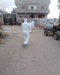 وضع  ٤ منازل تحت الحجر في المنيا لمنع إنتشار فيروس كورونا