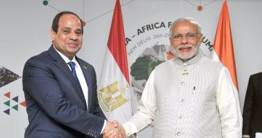 السيسى ورئيس وزراء الهند يبحثان هاتفياً التنسيق المشترك حول مكافحة كورونا