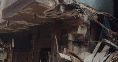 مصرع سيدتين فى انهيار عقار وسط الإسكندرية
