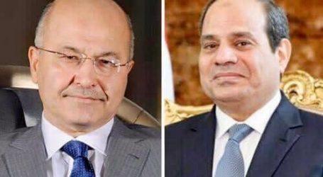 الرئيس السيسى يتلقى اتصالاً هاتفياً من نظيره العراقى للتهنئة بحلول عيد الفطر المبارك