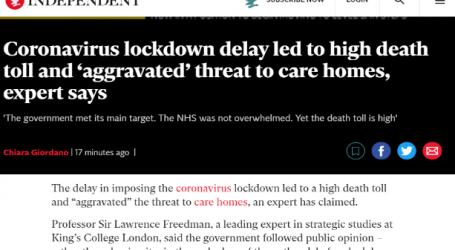 الإندبندنت البريطاني : تأخير عمليات الإغلاق بسبب كورونا أدى إلى ارتفاع عدد المتوفين