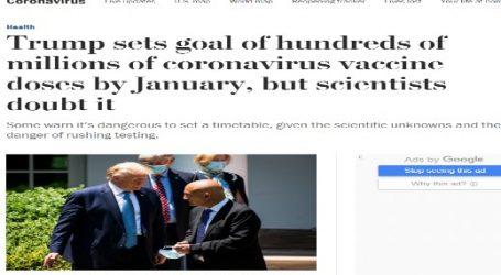 """واشنطن بوست :"""" ترامب"""" يعد بتوفير لقاح فيروس كورونا بحلول شهر يناير"""