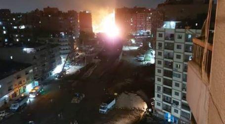 7 سيارات إطفاء للسيطرة على حريق انفجار ماسورة غاز بجوار محطة مترو الحلمية