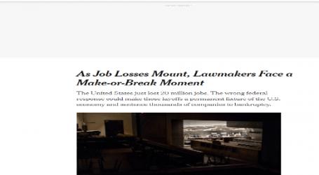صحيفة نيويورك تايمز : الكونجرس الأمريكي في أزمة بسبب البطالة