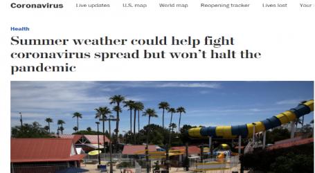 واشنطن بوست : الصيف سيساعد في مكافحة انتشار فيروس كورونا