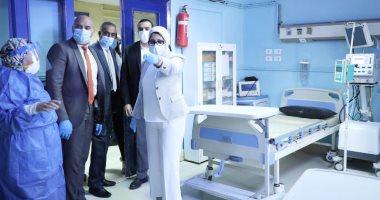 صور.. وزيرة الصحة للأطباء: أنتم أبطال تصنعون ملحمة..ويردون: حريصون على حماية الوطن