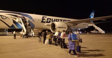مطار مرسى علم يستقبل رحلة طيران تقل 87 مصريا عالقا فى إنجلترا
