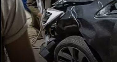 فيديو حادث دهس مراهق لأربع أطفال في أسيوط