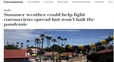 صحيفة (واشنطن بوست) الأمريكية :يمكن أن يساعد الطقس الصيفي في مكافحة انتشار فيروس كورونا ولكنه لن يوقف الوباء
