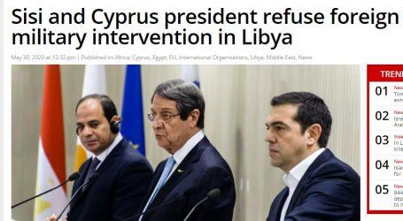 موقع ( ميدل إيست مونيتور) البريطاني : مصر وقبرص ترفضان التدخل العسكري الأجنبي في ليبيا