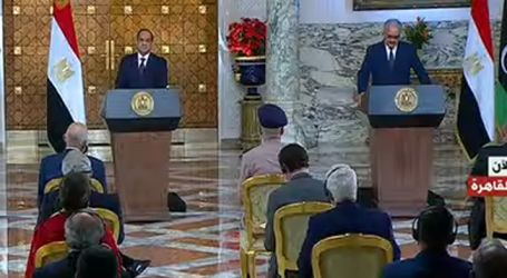 حفتر: أطلب من الرئيس السيسي وقف النشاط العسكري التركي فى ليبيا