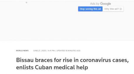 """وكالة """" رويترز"""" البريطانية : غينيا بيساو تستعد للارتفاع في حالات الإصابة بالفيروس التاجي وتطلب المساعدة الطبية الكوبية"""