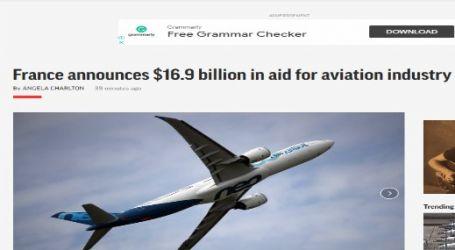 وكالة ( أسوشيتد برس ) الأمريكية :فرنسا تعلن عن (16.9) مليار دولار كمساعدة لصناعة الطيران