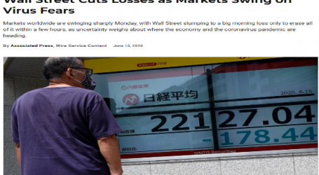 يو اس نيوز : استمرار خسائر بورصة وول ستريت مع تذبذب الأسواق