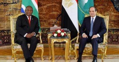 السيسى يبحث مع رئيس جنوب أفريقيا تطورات سد النهضة: النيل قضية وجودية لمصر