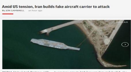 وكالة (أسوشيتد برس) الأمريكية : وسط التوتر مع الولايات المتحدة ، تبني إيران حاملة طائرات وهمية