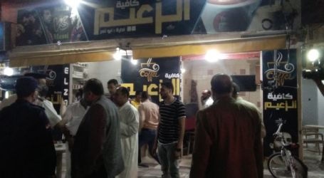 صور.. غلق أول مقهى مخالف بمدينة كفر الشيخ لعدم حظره الشيشة