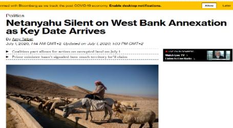 """بلومبرج : """" نتنياهو """" صامت بشأن ضم الضفة الغربية"""